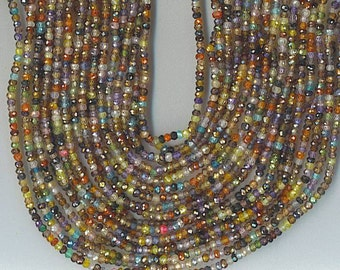 "14.5"" Strand 3.5mm Faceted Multi Cubic Zirconia CZ Rondelle Beads SPARKLY"