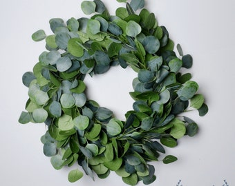 Eucalyptus Wreath, Farmhouse Wreath, Greenery Wreath, Front Door Wreath, Artificial Greenery Wreath, Artificial Eucalyptus Wreath, Christmas