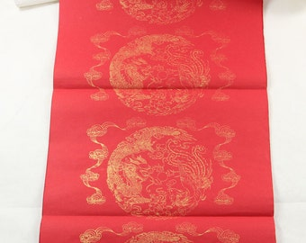 36x138cm Red Xuan Paper Couplets / 7 Characters Version / Dragon Phoenix / 10 Pcs - Oriental Calligraphy - 0002C