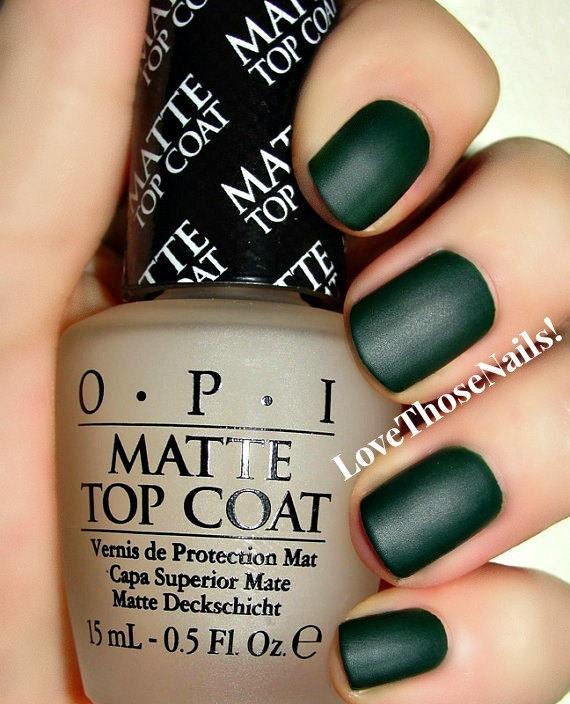 OPI ~ Hunter Matte Manicure ~ Christmas Gone Plaid, Matte Top Coat ...
