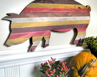 Pallet Wood Pig Customizable Pallet Art Wooden Kitchen Decor