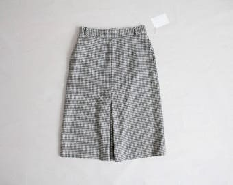 grey gingham skirt | 70s skirt | wool plaid skirt