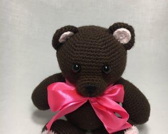 Crochet Teddy Bear/Amigurumi Bear/In stock