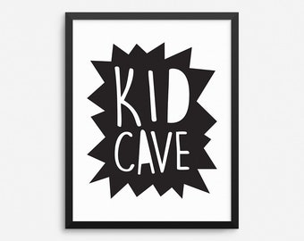 Kid Cave Print, Playroom Decor, Kids Room Decor, Kids Wall Art, Nursery Wall Decor, Kids Room Print