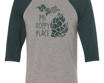 MI Hoppy Place Baseball Tee