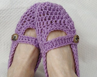 adult womens mary jane slippers light purple