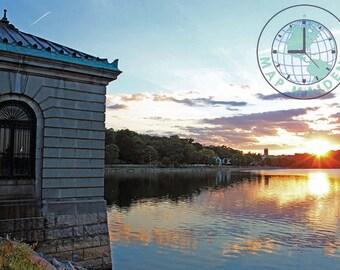 Boston's Chestnut Hill Reservoir at Sunset Photograph - Digital Download