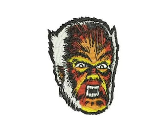 The Wolfman Iron-On PATCH Horror Classic Universal Studios Monster Monsters Werewolf Wolf Man Hipster Goth Gothic Punk Science Fiction Rock