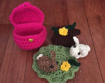 Crochet Bunny/Mouse Play Set - 5 piece - FREE SHIPPING