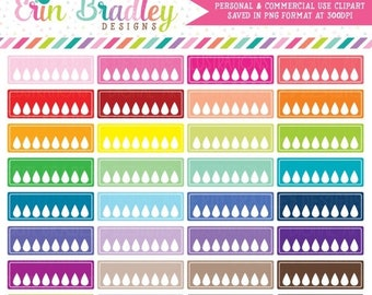 80% OFF SALE Blank Hydrate Clipart for Planner Girls Personal & Commercial Use Hydrate Boxes Clip Art Graphics