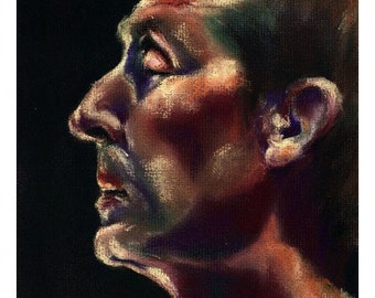 Profile (Leith), 2006 - original pastel portrait