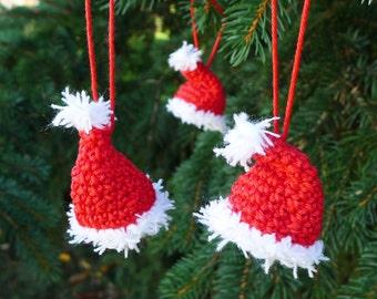 Crochet pattern Santa Claus hat, eBook crochet pattern Christmas