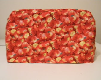 Toaster Oven Cover - Appliance Cover - Red Apple Print