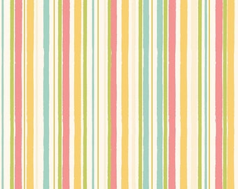 Hello Gorgeous Fabric Yardage, Gorgeous Stripe Cream, My Mind's Eye, Riley Blake Designs Fabrics
