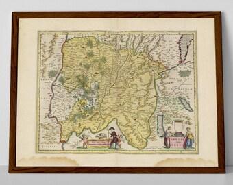 Bresse, old map of France reproduction print | Lyon, Annecy, Genève, Villeurbanne, Saint-Jean-d'Ardières, Les Rousses, Épagny