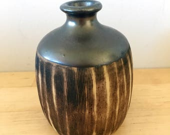 Vintage Small Studio Pottery Vase // Hand Made, Signed and Dated 1989