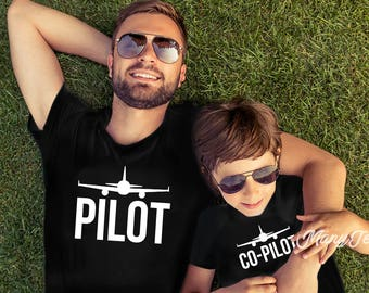 Father and son matching shirts dad and son matching shirts dad and baby shirts pilot shirt pilot copilot pilot gifts funny pilot shirt