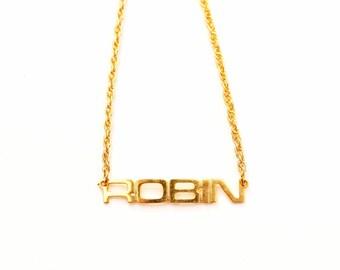 Vintage Name Necklace - Robin