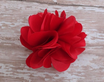 Red Flower Hair Clip Baby Toddler Child
