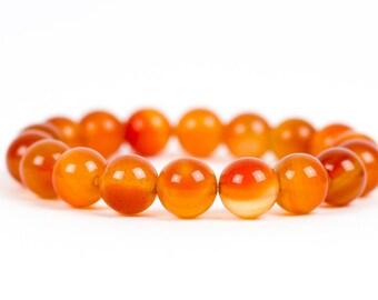 Carnelian Gemstone Bracelet, Red and Orange Gemstone Bracelet, Gemstone Jewelry, Handmade Jewelry, Energy, Chakra Bracelet, Stretch Bracelet