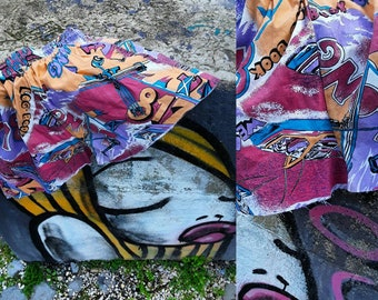 90s years fancy cotton skirt with drawstring