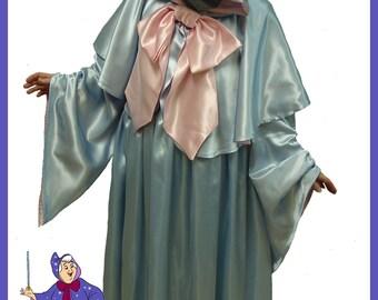 Custom Boutique Halloween Cinderella Fairy Godmother  Costume Set Adult Size