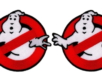 Set of 2:  Who You Gonna Call?  Ghostbusters Halloween Costume Patch