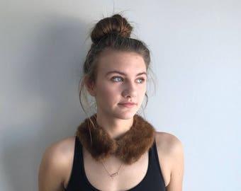 Vintage Mink Collar, 1950s Mink Collar, Coat Collar, Dress Collar, Fur Coat Collar, Fur Collar, Brown Mink Collar