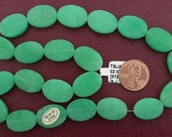 18x13 oval gemstone green aventurine beads