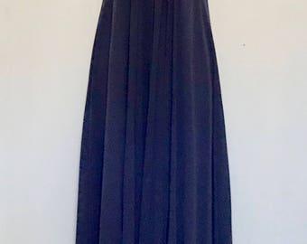 90's Deep Blue Evening Gown           LV0085