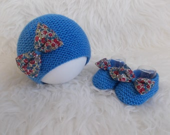 Cap wool slippers liberty baby gift