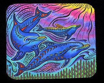 3 Dolphins Mousepad for computers