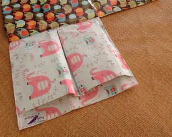 For sale:Nappy Wallet  with waterproof Change Mat - three or two pockets - Elephant Splash Aqua