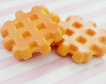52mm B- GRADE Waffle Kawaii Decoden Cabochon - 1 piece