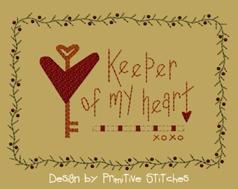 MACHINE EMBROIDERY-Keeper Of My Heart-5x7-Fill-Instant Download