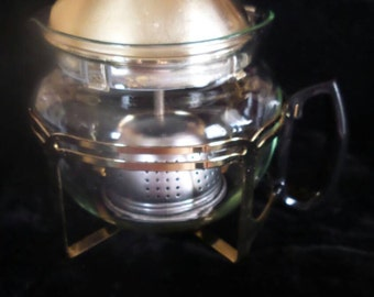 Glass Teapot with Stand & Bell-Shaped Infuser
