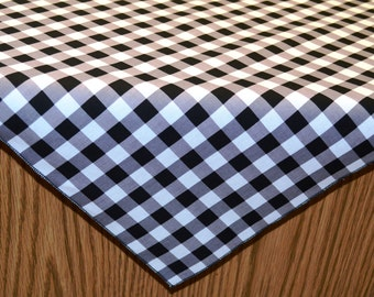 SALE!  42 x 42 Inch Eco-Friendly Black and White Gingham Overlay