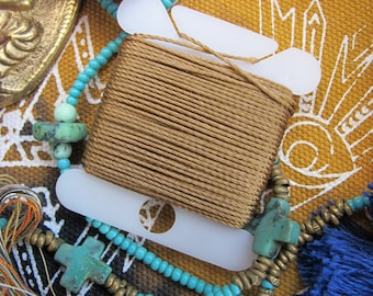Peanut Butter Jewelry String 288 Inches 18 Bead String Size .5 DIY Twisted Nylon Bead Cording Classic Camel Cord & More 70 Colors Available