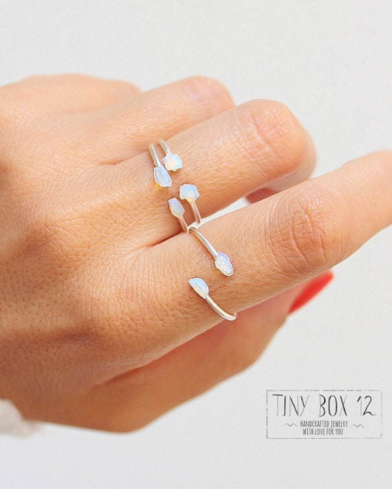 Items Similar To Opal Ring Exquisite Braided Opal: Items Similar To 3 Opal Ring, Opal Jewlery, Opal Sterling
