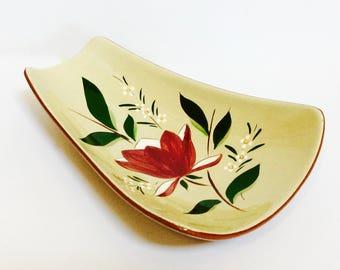 "Stangl Pottery Relish/Dessert/Centerpiece Bowl, ""Magnolia"" by Stangl Pottery Trenton NJ USA"