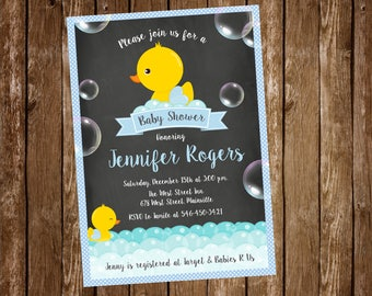Duck Baby Shower Invitation - Digital or Printed