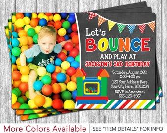 Bounce House Birthday Invitation   Printable Bounce House Invitations   Bouncy House Birthday Invitation   Bounce House Party