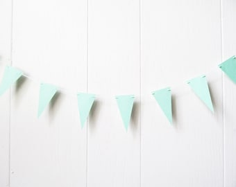 Mint Bunting / Mint Triangle Flag Garland / Nusery Decor / Photo Prop / Party Decor / Bunting / Holiday Decor