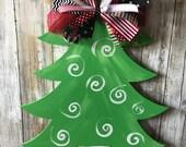 Christmas tree door hange...