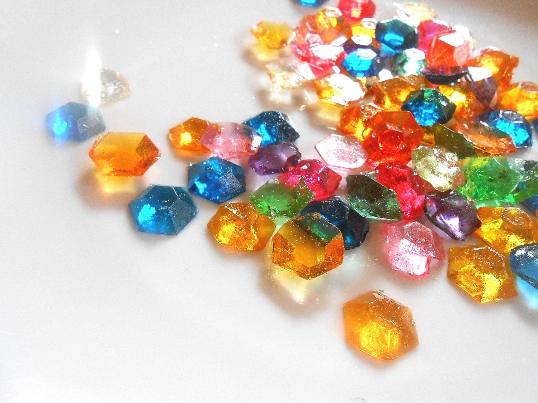 LEGEND of ZELDA Party 60 Candy Gem Edible RUPEES Sugar
