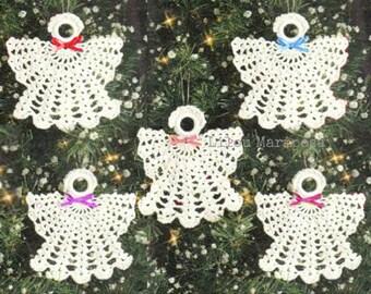 Crochet Christmas ANGEL Ornament Pattern Crochet Ornament Pattern Crochet ANGEL Pattern Crochet Baptism Favor Pattern