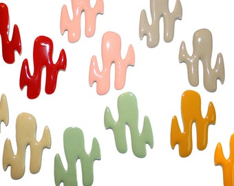 Big Vintage Paint Earrings - pop art vintage 60s mod unique vintage enamel earrings paint splatter painter colorful kitschy kitsch earrings
