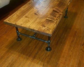 Coffee Table, Table, Industrial Table, Industrial Pipe Table, Industrial  Coffee Table,
