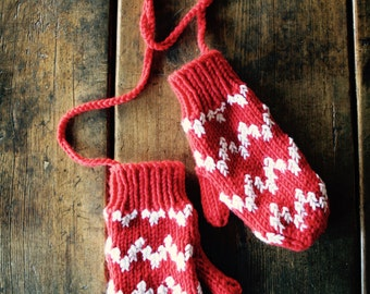 Mitts on a String by Anna Wilkinson, Tatty Devine x Anna Knits, hand knitting/crochet pattern, DOWNLOADABLE PDF