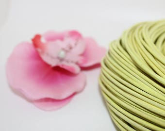 5 meters of 2mm - creating jewelry yellow leather cord